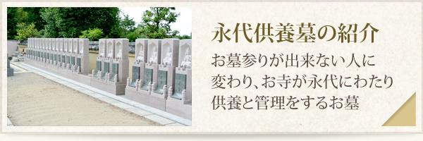 永代供養墓の紹介